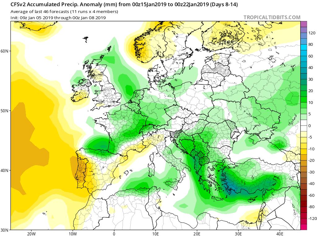 Modelos de precipitación semanales GFS 3S Jose Calvo. Meteosojuela La Rioja.