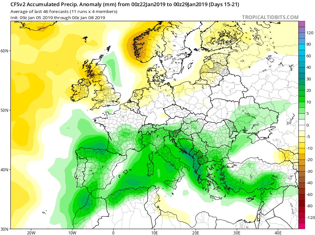 Modelos de precipitación semanales GFS 4S Jose Calvo. Meteosojuela La Rioja.