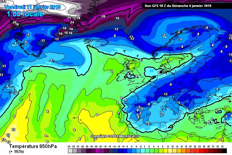 Modelos de temperaturas a 850hPa. Meteosojuela La Rioja