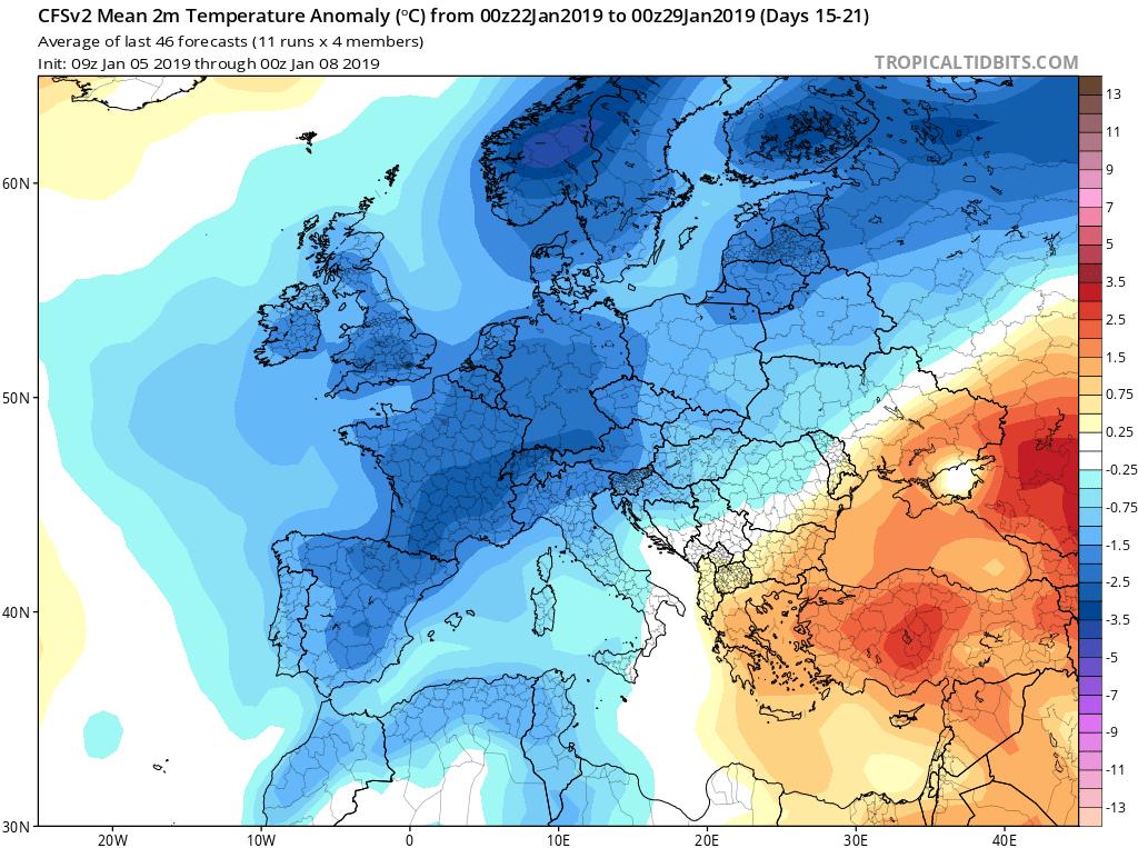 Modelos de temperaturas semanales GFS 4s Jose Calvo. Meteosojuela La Rioja.