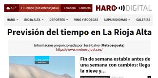 Portada Harodigital.com 05012019 Meteosojuela. La Rioja