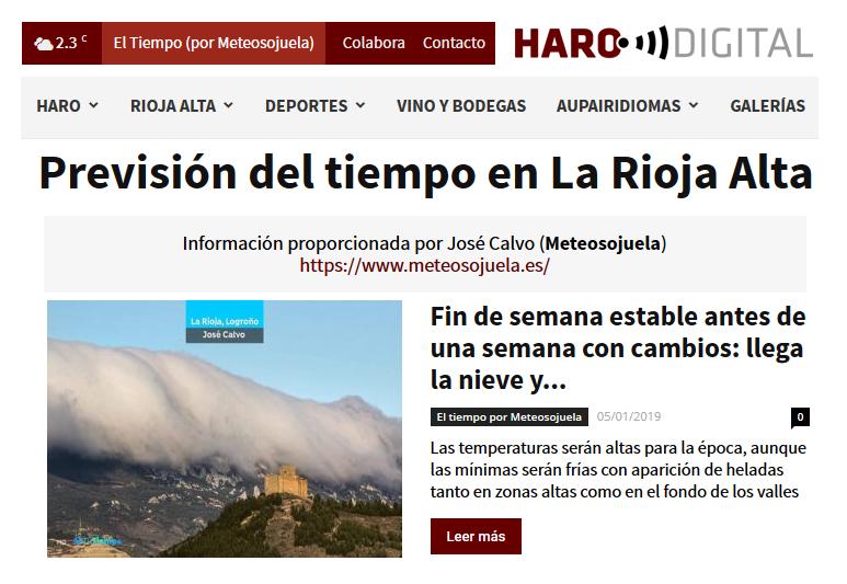 Colaboracion Con El Periodico Digital Harodigital Com 05 01 2019