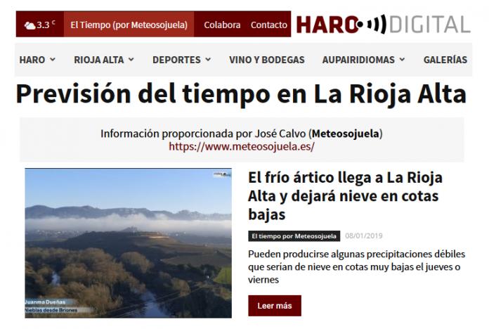 Portada Harodigital.com 08012019 Meteosojuela. La Rioja