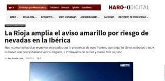 Portada Harodigital.com 19012019 Meteosojuela. La Rioja