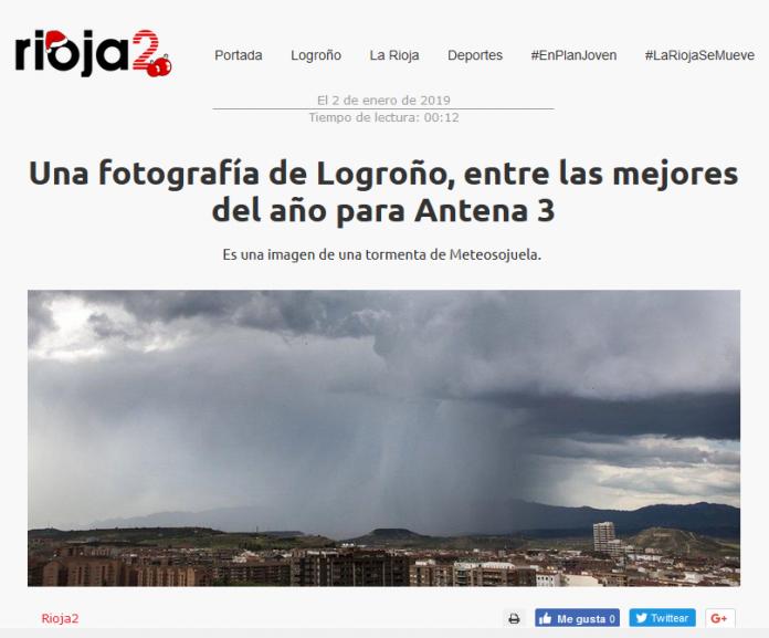 Portada Rioja2.com 02012019 Meteosojuela. La Rioja