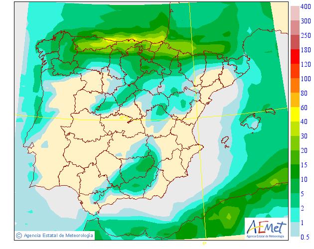 Precipitación media AEMET. 02 Meteosojuela La Rioja