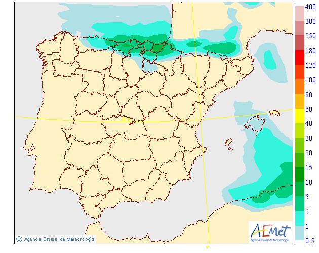 Precipitación media AEMET. 09 Meteosojuela La Rioja