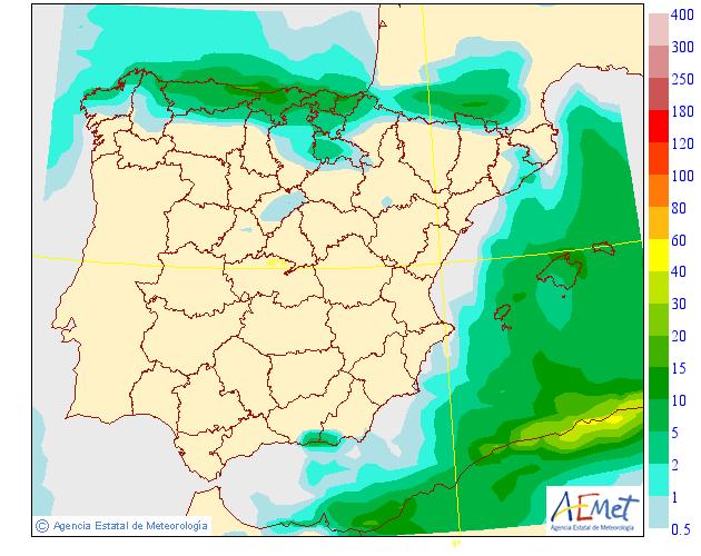 Precipitación media AEMET. 21 Meteosojuela La Rioja
