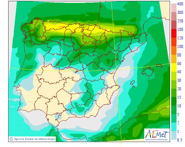 Precipitación media AEMET. 23 Meteosojuela La Rioja