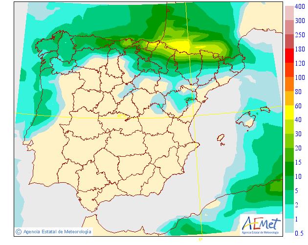 Precipitación media AEMET. 28 Meteosojuela La Rioja