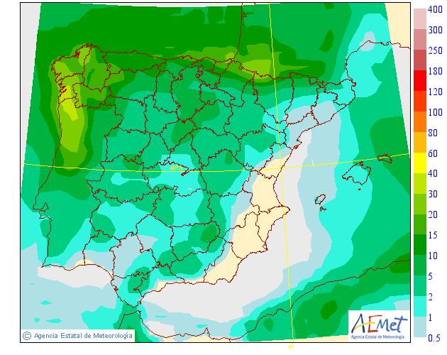 Precipitación media AEMET.30 Meteosojuela La Rioja