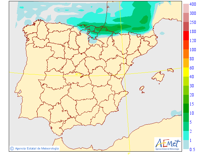 Probabilidad de precipitación AEMET. 14 Meteosojuela La Rioja