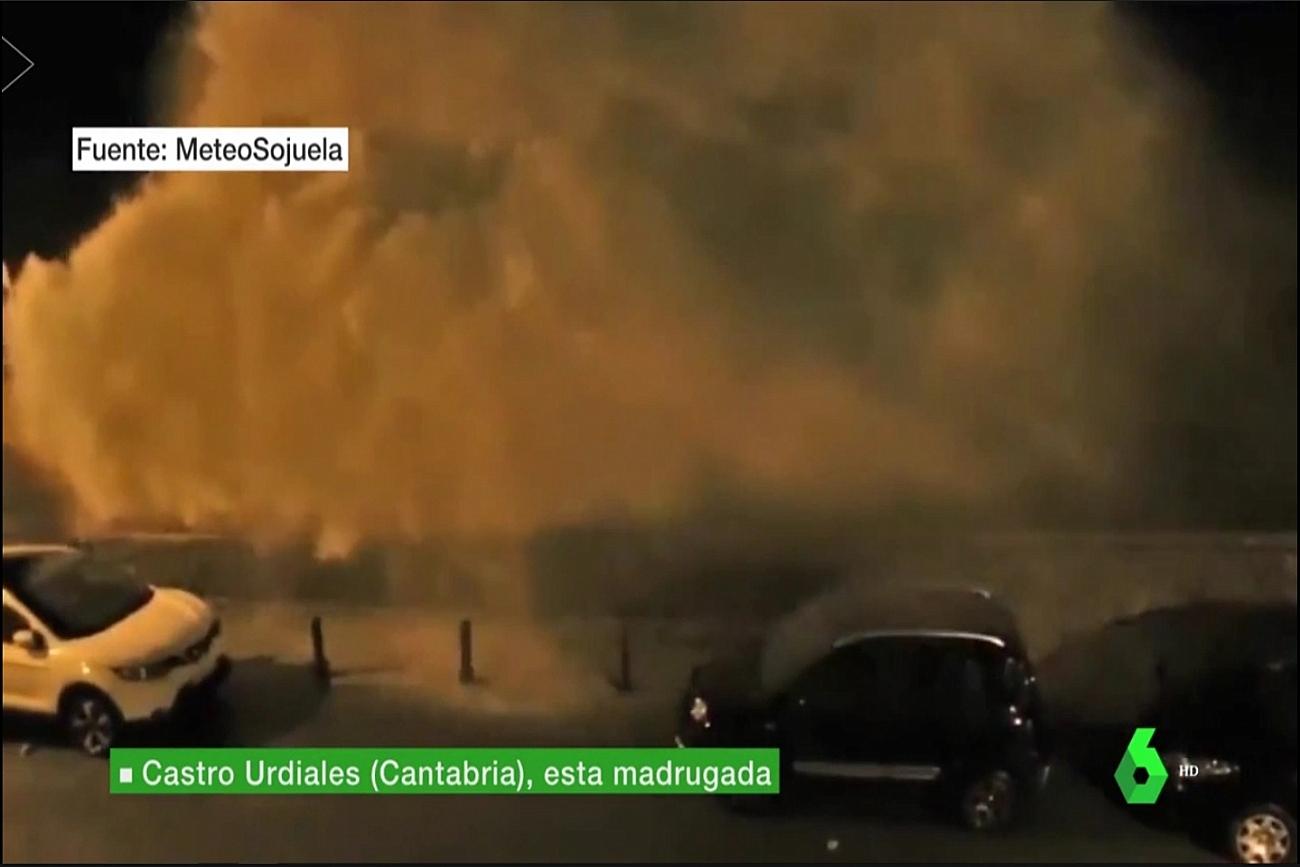 Temporal de olas 2301. La Sexta Meteo. Meteosojuela La Rioja
