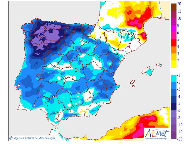 Variación de temperaturas máximas AEMET 01 . Meteosojuela La Rioja
