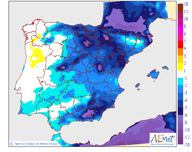Variación de temperaturas máximas AEMET 02 . Meteosojuela La Rioja