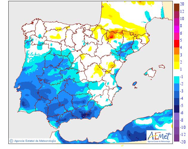 Variación de temperaturas máximas AEMET. 11 Meteosojuela La Rioja