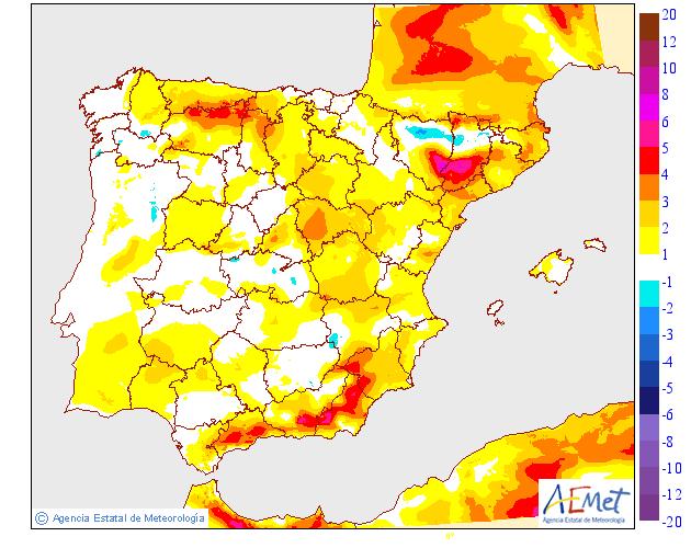 Precipitación media AEMET 13. Meteosojuela La Rioja