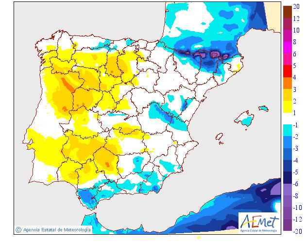 Variación de temperaturas máximas AEMET.28 Meteosojuela