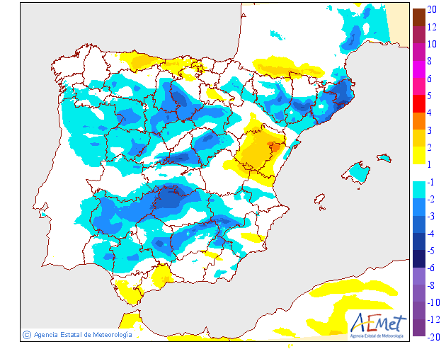 Variación de temperaturas máximas AEMET.29 Meteosojuela
