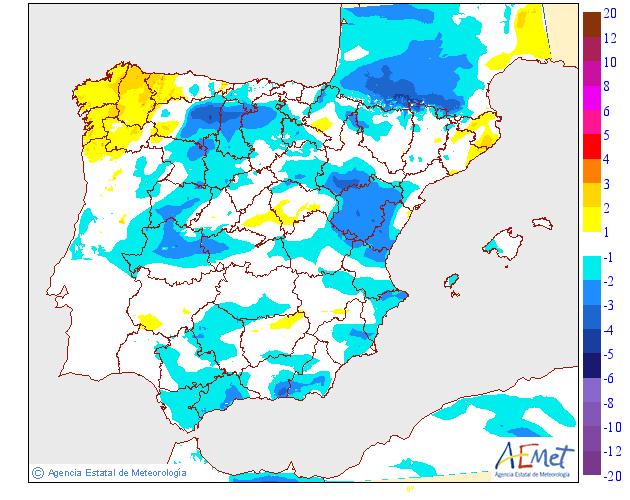 Variación de temperaturas máximas AEMET.30 Meteosojuela