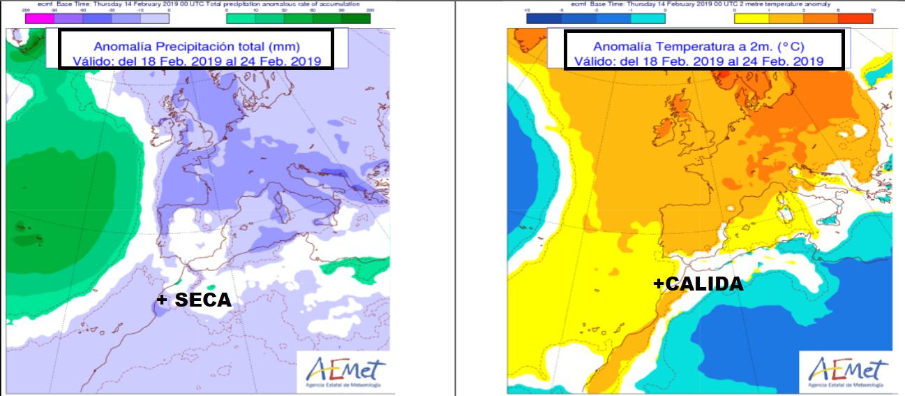 Anomalías de Temperatura y Preciìtación AEMET. Meteosojuela