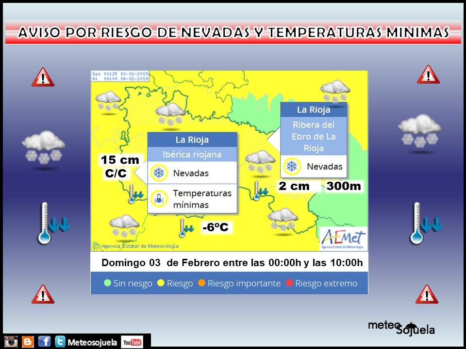 Aviso Amarillo Nieve y Frio AEMET. 03 Meteosojuela La Rioja