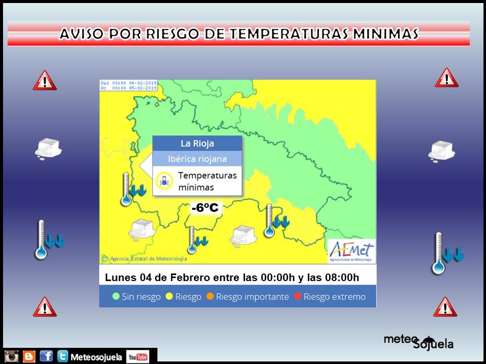 Aviso Amarillo Nieve y Frio AEMET. 04 Meteosojuela La Rioja