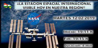 Datos ISS paso por La Rioja. Meteosojuela