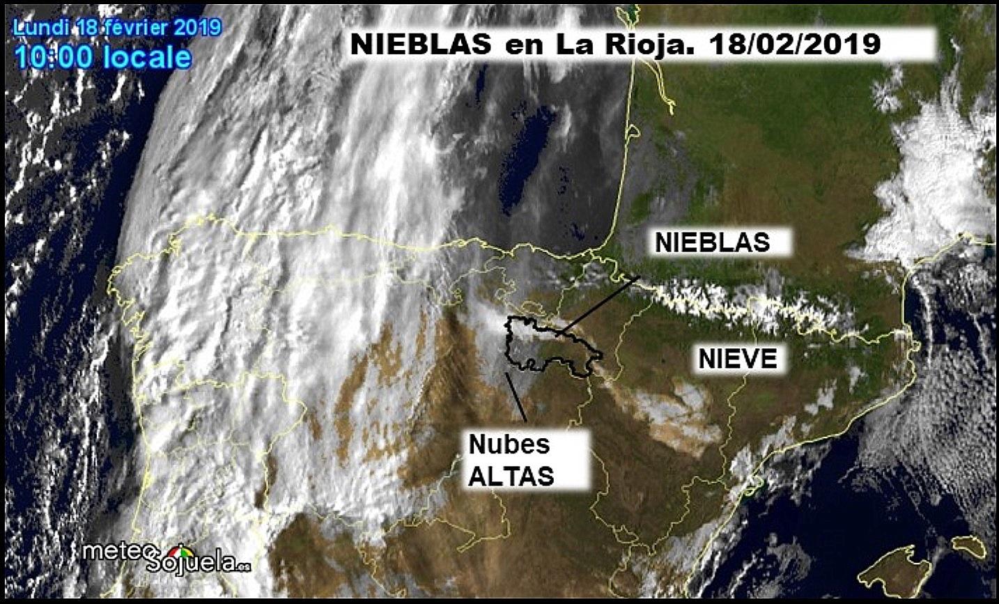 Imágenes de satélite. Nieblas. Meteosojuela