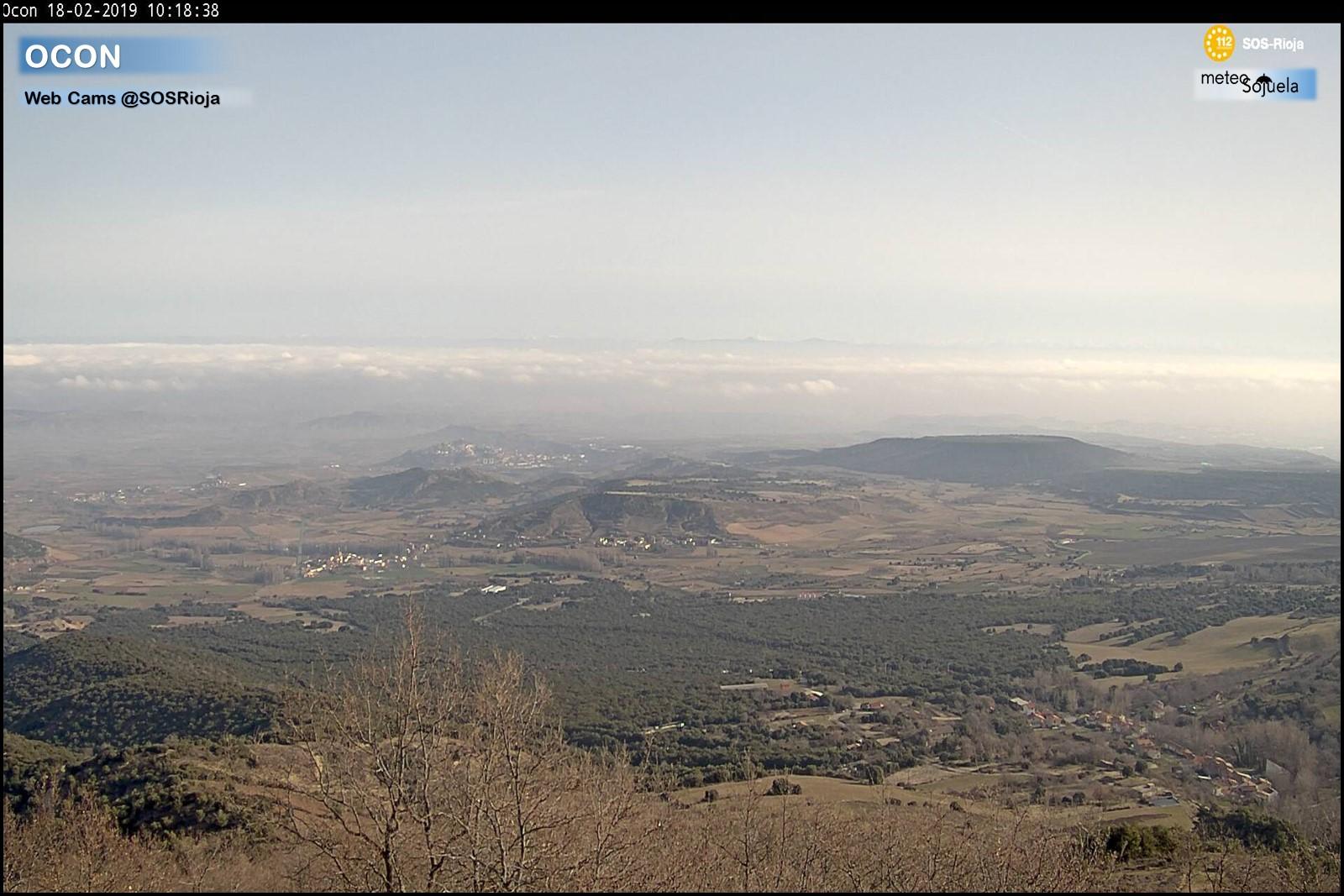 Mar de nubes desde Ocón. SOS Rioja. Meteosojuela