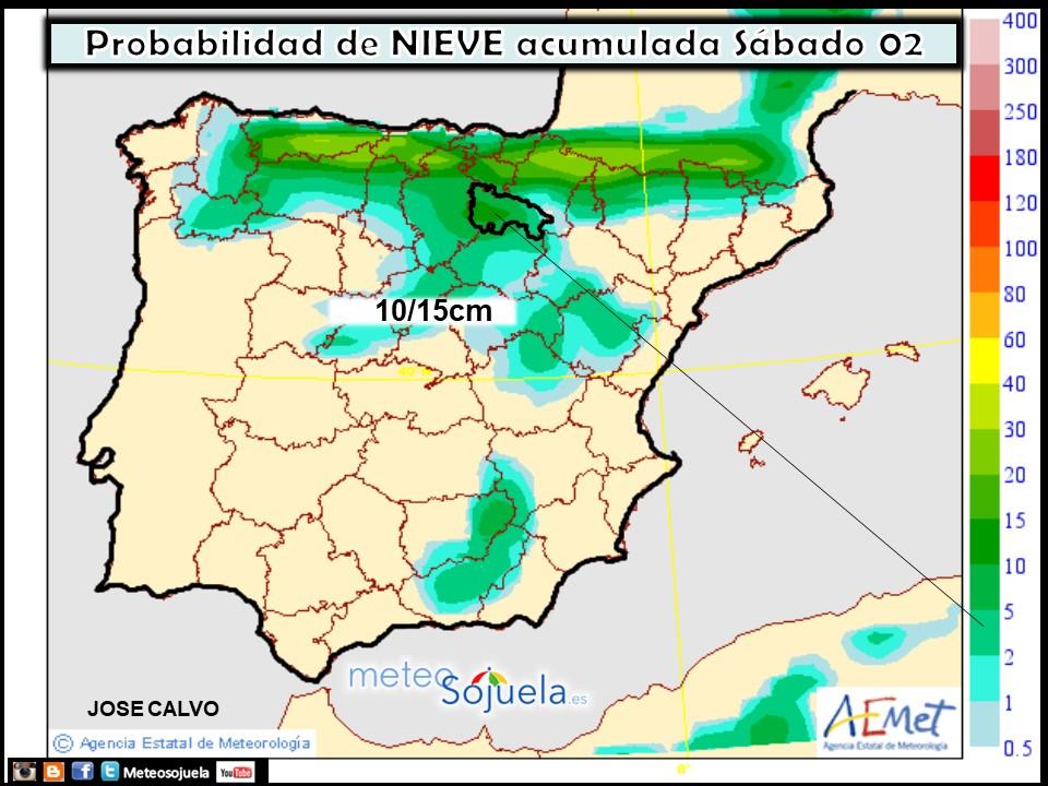 Modelos de Nieve acumulada AEMET. Meteosojuela La Rioja