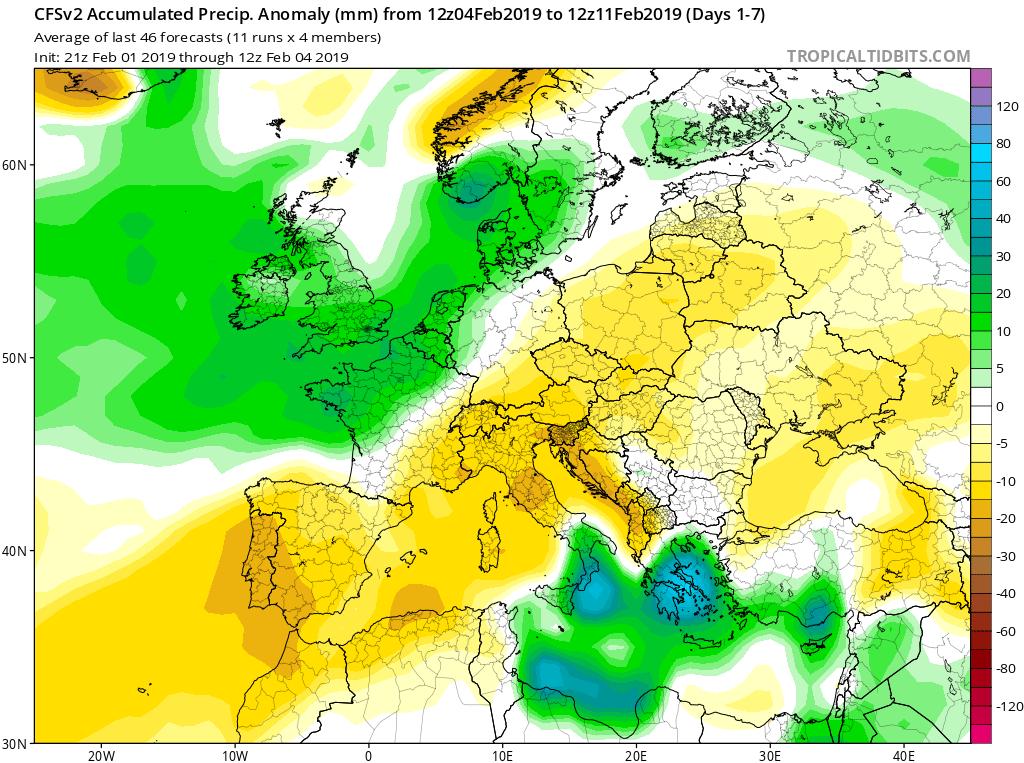 Modelos de Precipitación semanales GFS 1S Jose Calvo. Meteosojuela La Rioja.