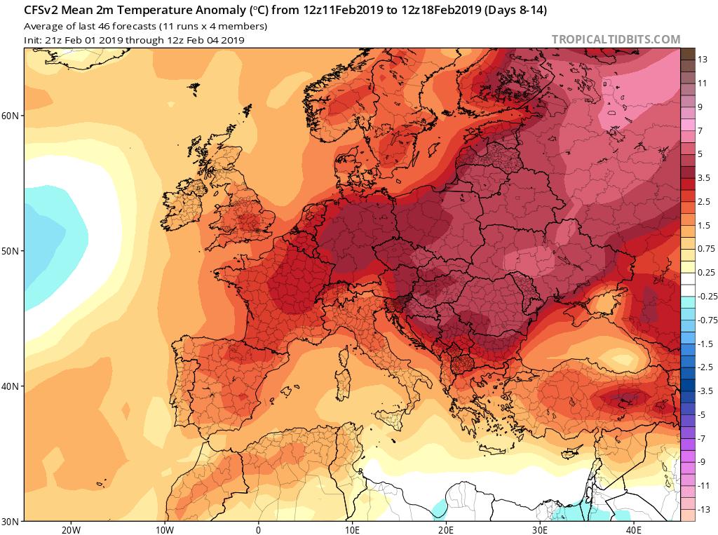 Modelos de temperaturas semanales GFS 2S Jose Calvo. Meteosojuela La Rioja.