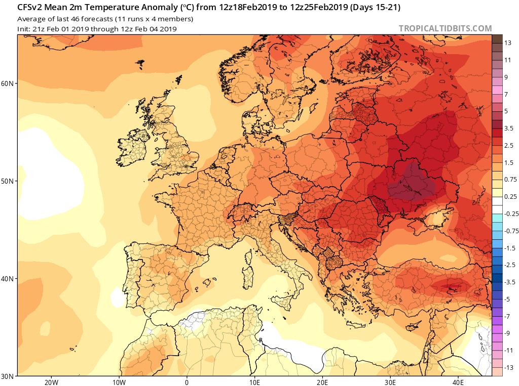 Modelos de temperaturas semanales GFS 3S Jose Calvo. Meteosojuela La Rioja.