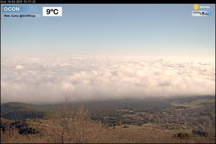 Nieblas estacion SOS Rioja Ocón. Meteosojuela