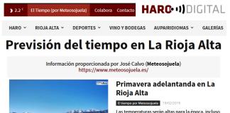 Portada Harodigital.com 19022019 Meteosojuela. La Rioja