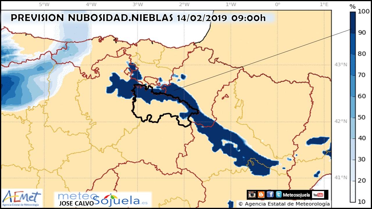 Previsión de nubosidad Harmnie. Meteosojuela La Rioja