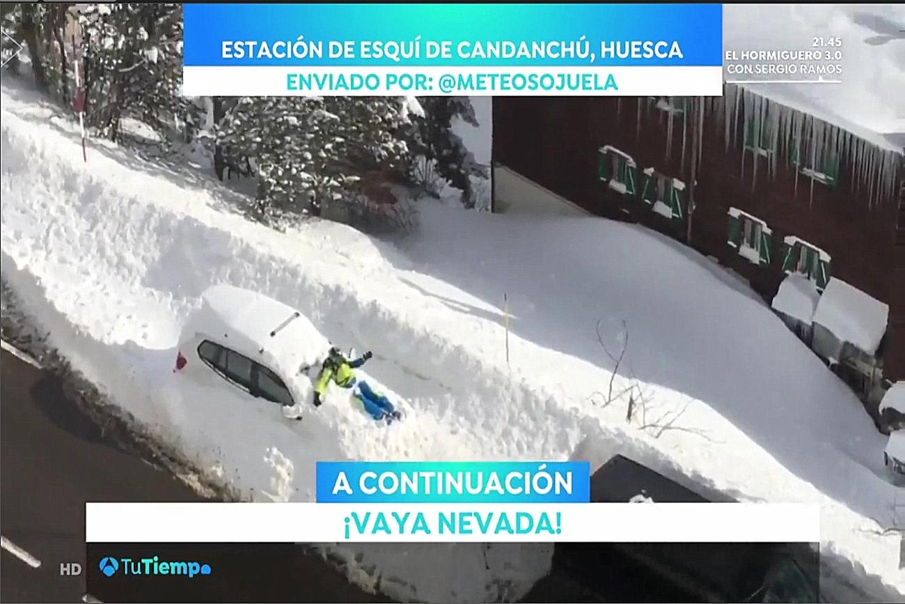 Temporal en Candanchú. Antena 3. 0202 Meteosojuela La Rioja