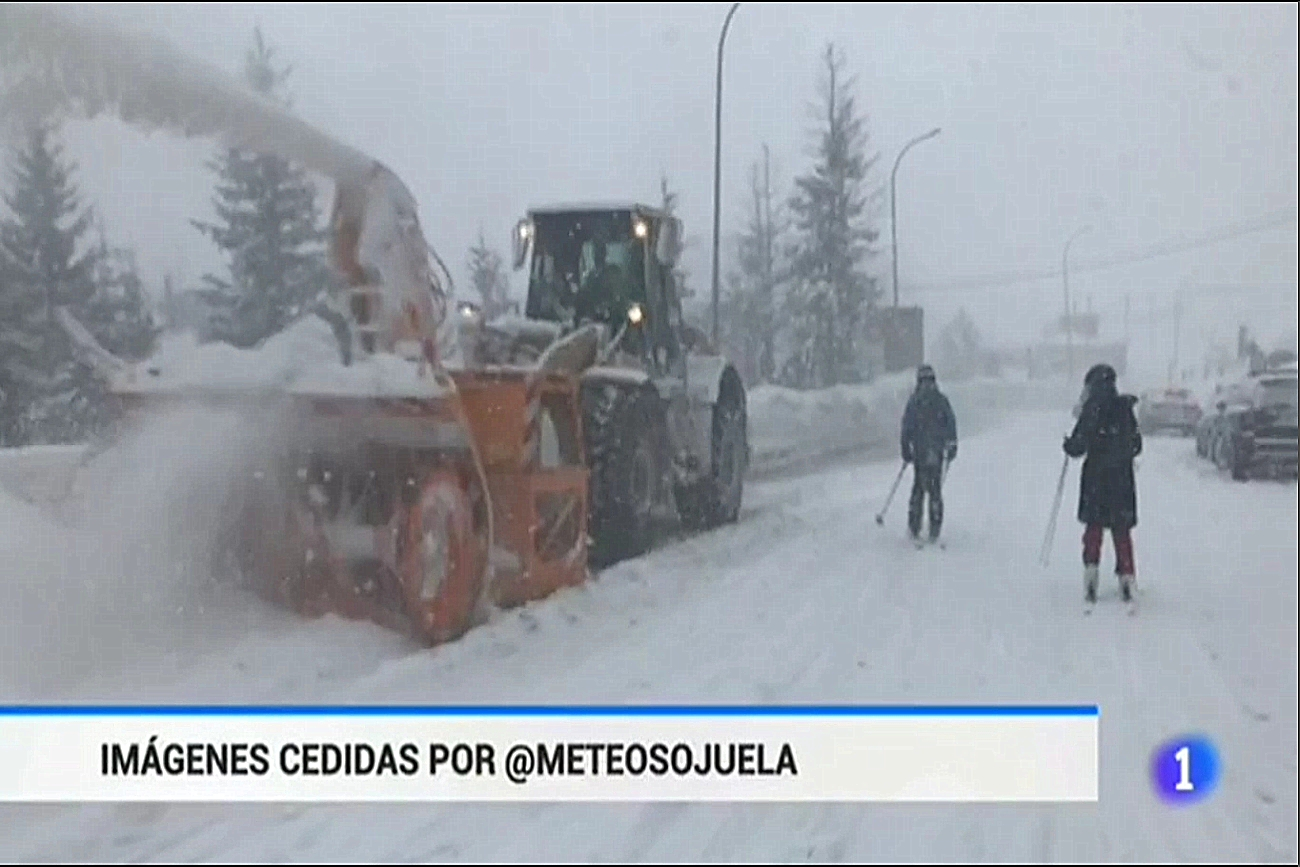 Temporal en Candanchú. Telediario TVE1. 0202 Meteosojuela La Rioja