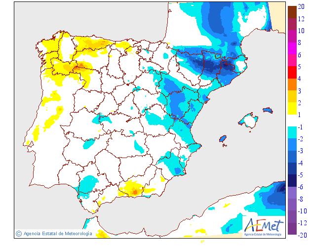 Variación de temperaturas máximas AEMET 03 . Meteosojuela La Rioja