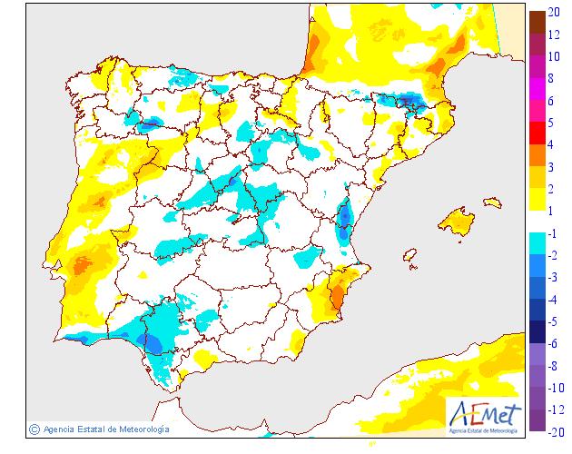 Variación de temperaturas máximas AEMET 0902. Meteosojuela