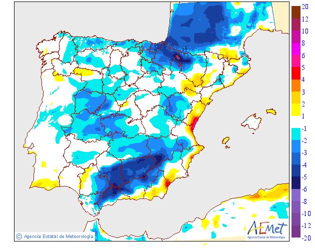 Variación de temperaturas máximas AEMET 1002. Meteosojuela