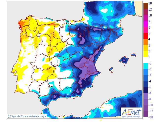 Variación de temperaturas máximas AEMET 24. Meteosojuela