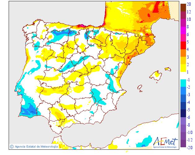 Variación de temperaturas máximas AEMET 26. Meteosojuela