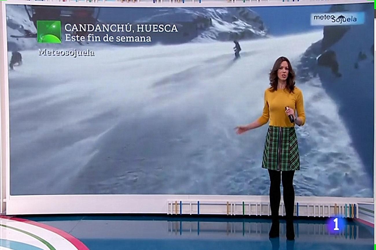 Ventisca en Candanchú. Aquí la Tierra 17022019. Meteosojuela La Rioja.