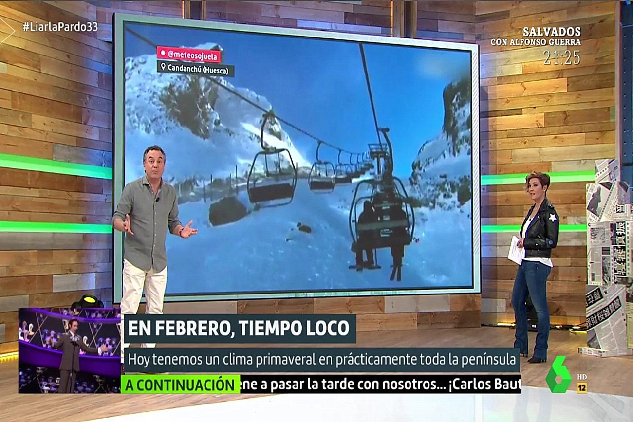 Ventisca en Candanchú. Liarla Pardo 17022019. Meteosojuela La Rioja.