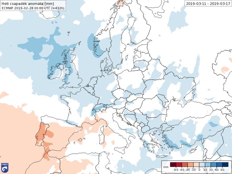 Anomalías Precipitación Marzo 2 semana ECMWF