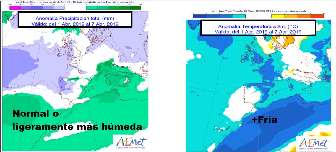 Anomalías de Precipitación y Temperatura AEMET. Meteosojuela