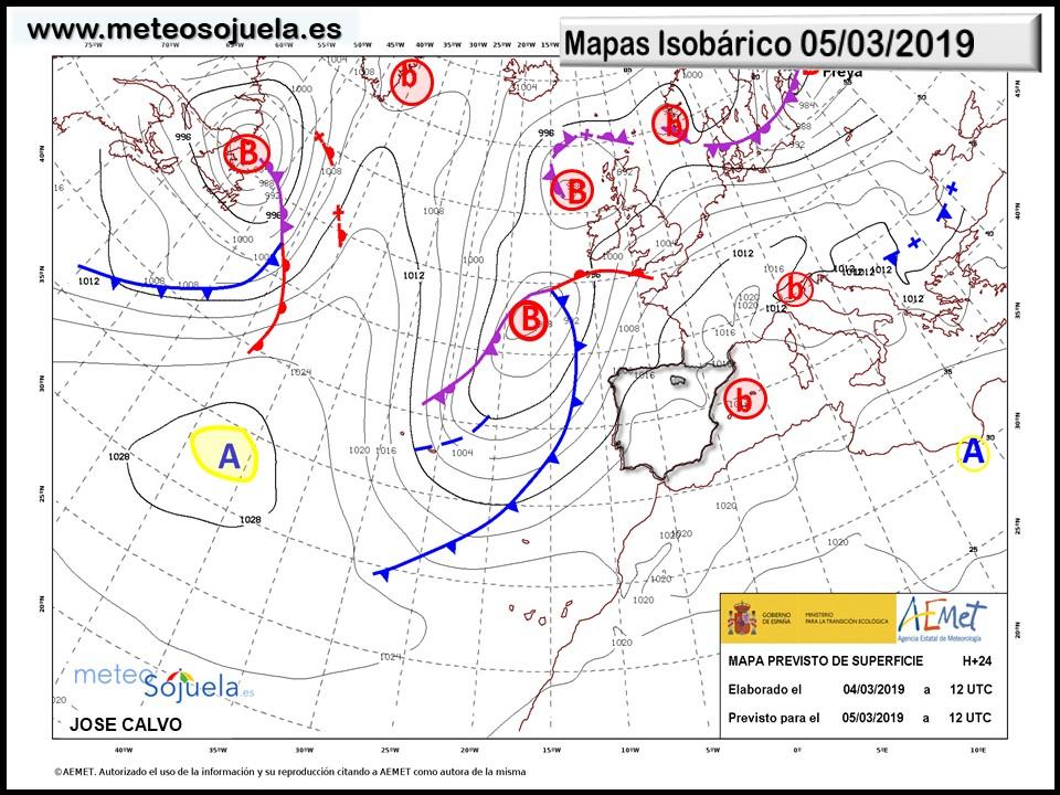 Animación imágenes de satélite Anticiclonazo. Meteosojuela La Rioja