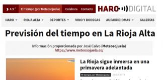 Portada Harodigital.com 26022019 Meteosojuela. La Rioja